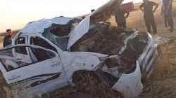 مصرع واصابة 19 شخصا بحادثين في كركوك والسليمانية