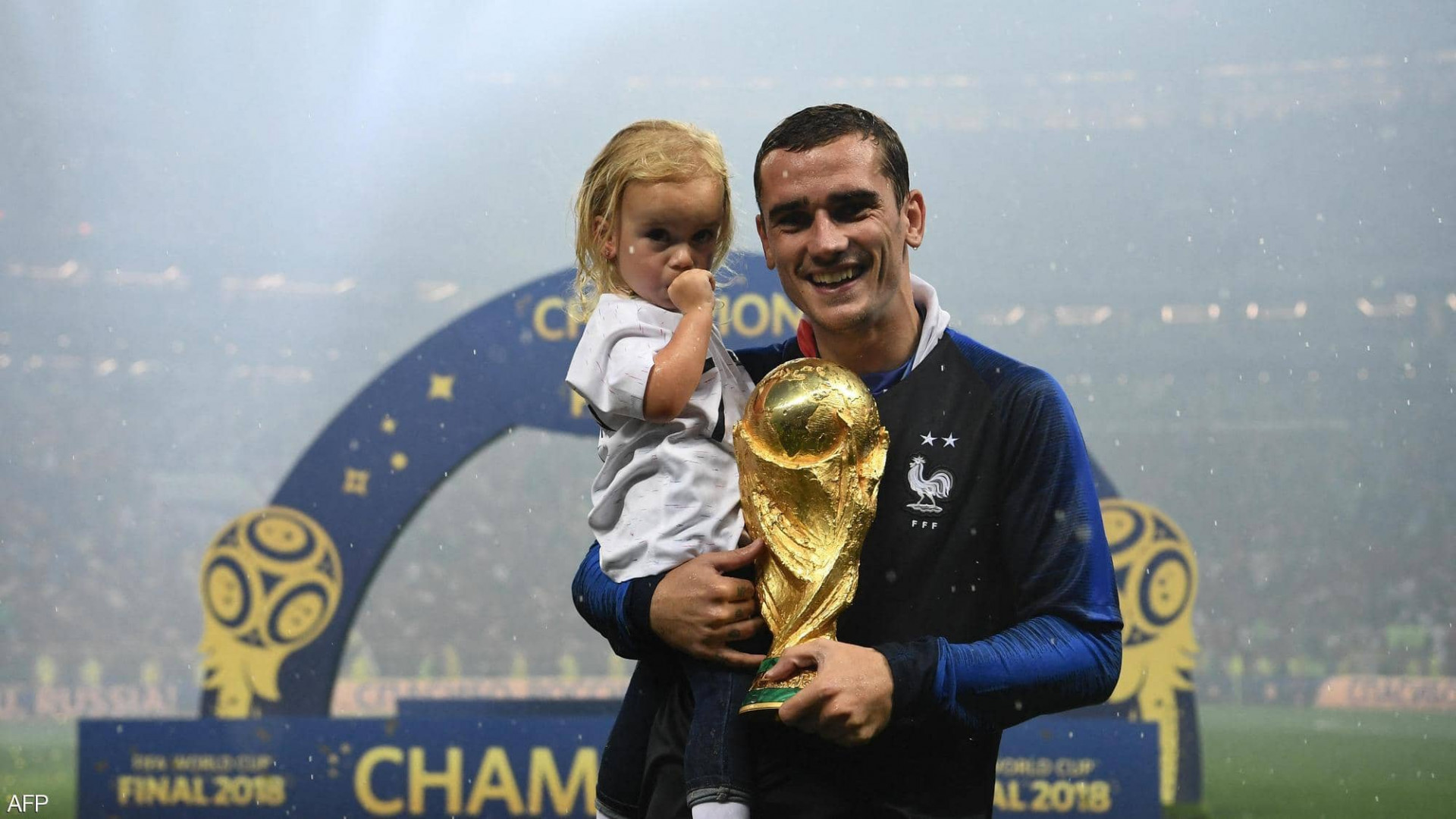 Antoine Griezmann welcomes his third child, all born on the same day