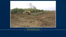 قوة أمنية تعثر على حقل ألغام وعبوات شديدة الانفجار في منطقتين بالموصل
