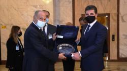 Aboul Gheit invites Nechirvan Barzani to visit the Arab League's headquarters in Cairo