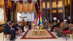 The Kurdish leader, Masoud Barzani meets with the U.S. ambassador to Iraq