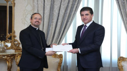 Nechirvan Barzani receives a letter from Pope Francis
