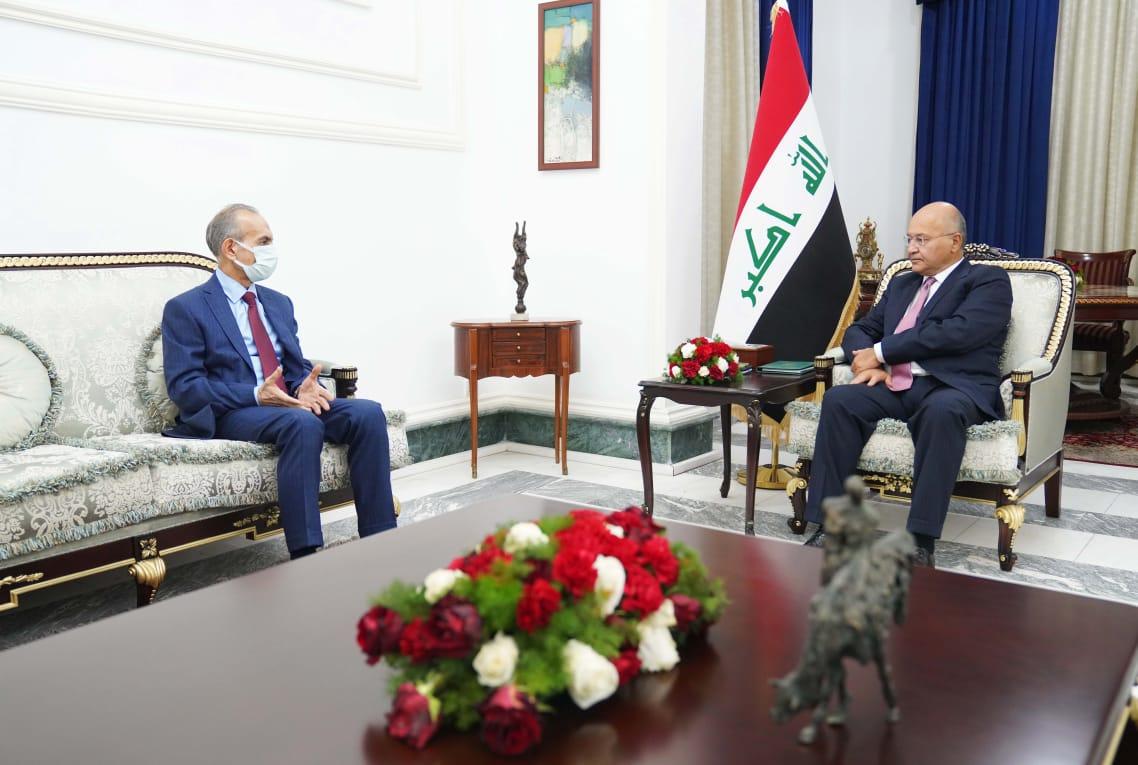 President Salih receives ITF's head Turan