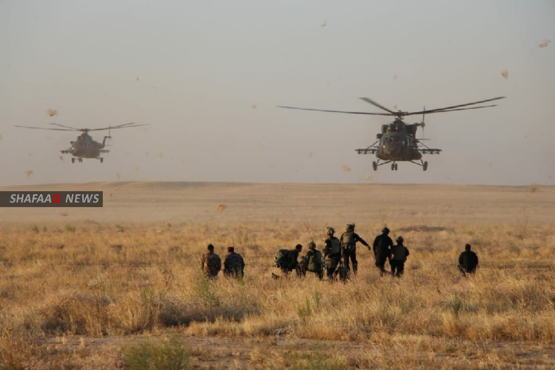 The security forces clear thousands of dunums within the Samarra operations sector