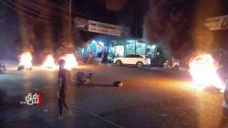 Demonstrators storm the streets of al-Rifai to protest al-Kadhimi's reinstatement