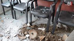 بالصور.. أعمال شغب وتكسير في احتجاج أمام تربية السليمانية