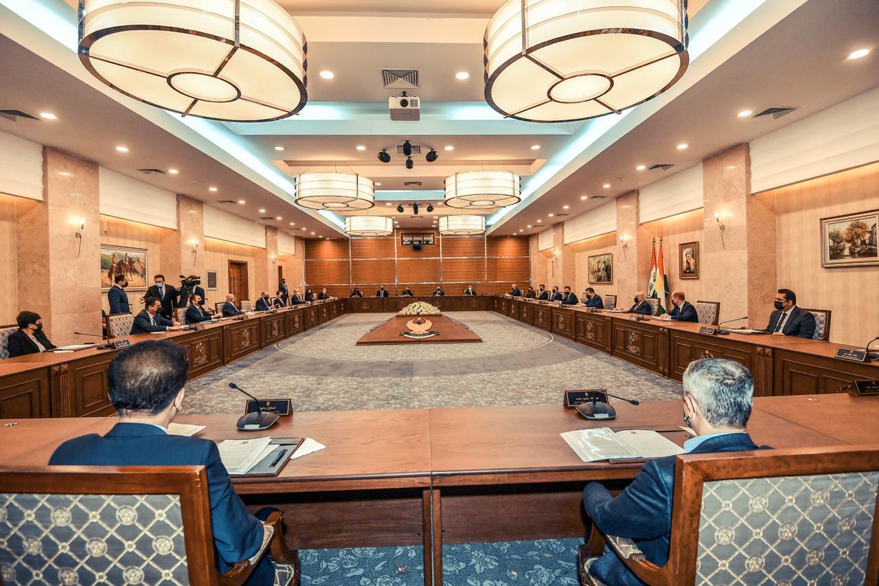 مجلس وزراء إقليم كوردستان يناقش موازنة الإقليم ويوافق على مشروعي قانونين