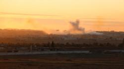 Turkish artillery bombs a village in Batifa