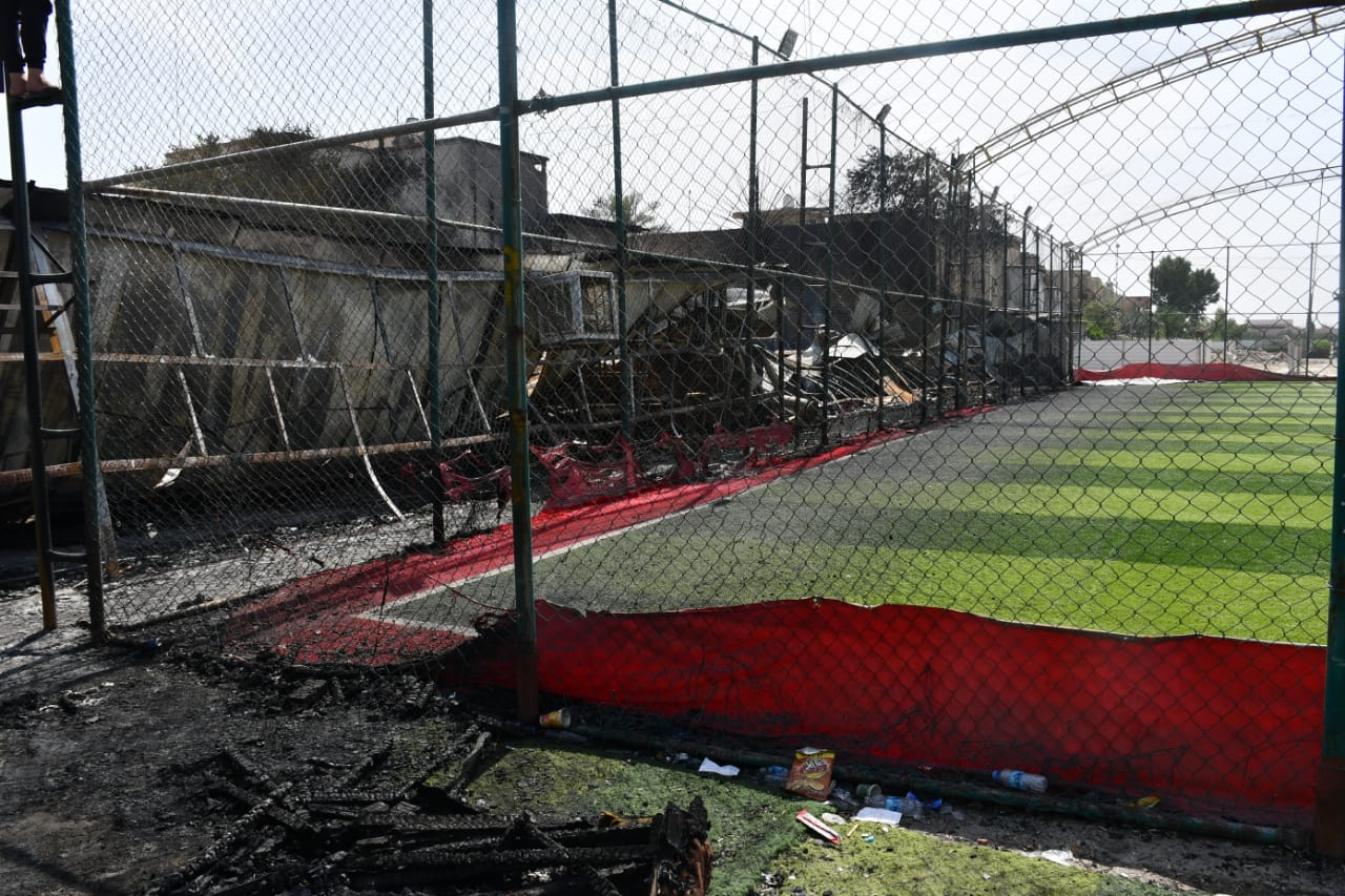 الدفاع المدني يخمد حريقا في معمل نجارة ومقهى شمال شرقي بغداد