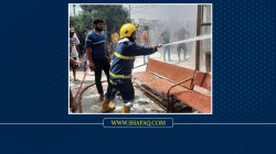 Firefighting teams put out blazes in a coffee shop in a Southern governorate