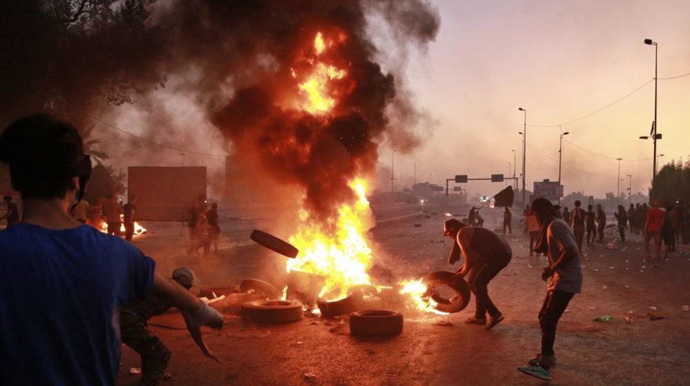 7 جرحى في صفوف متظاهرين بهجوم مجهولين في واسط