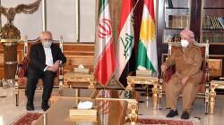 ظريف يستهل زيارته لأربيل بلقاء الزعيم الكوردي مسعود بارزاني