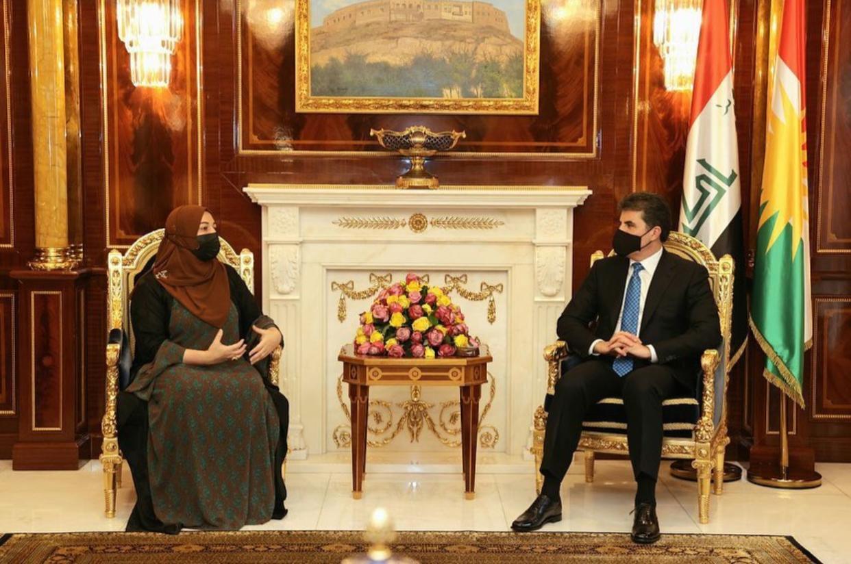 President Barzani hosts Parliament Speaker Faiq in Erbil