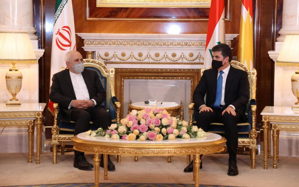 ظريف يؤكد لرئيس إقليم كوردستان: نرغب بمنطقة آمنة ومستقرة