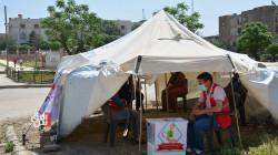 الهلال الأحمر الكوردي يشيد خياما لاستقبال زكاة الفطر في ديرك