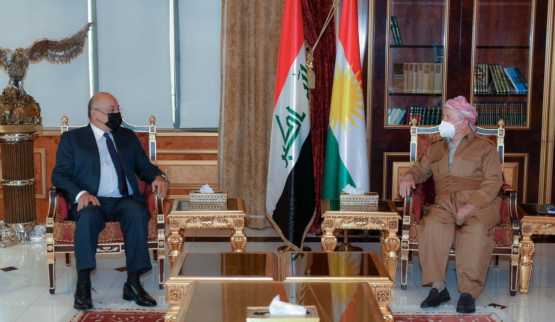 مقر مسعود بارزاني يعلن تفاصيل اجتماع الأخير مع برهم صالح