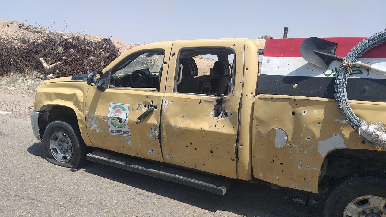 جرحى من الجيش العراقي بتفجير شرقي صلاح الدين