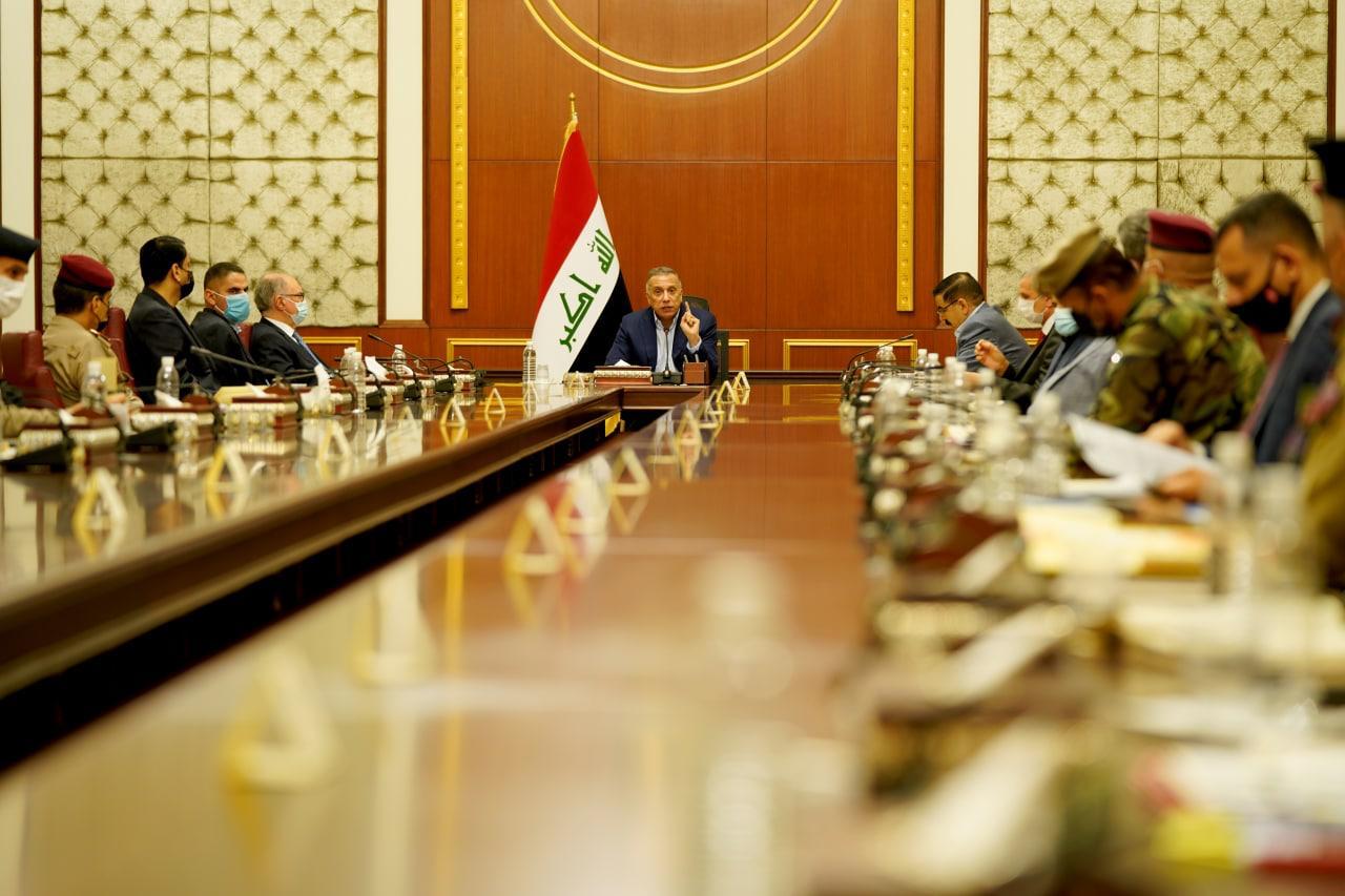 اجتماع برئاسة الكاظمي يبحث التنسيق أمنياً بين القوات الاتحادية والبيشمركة
