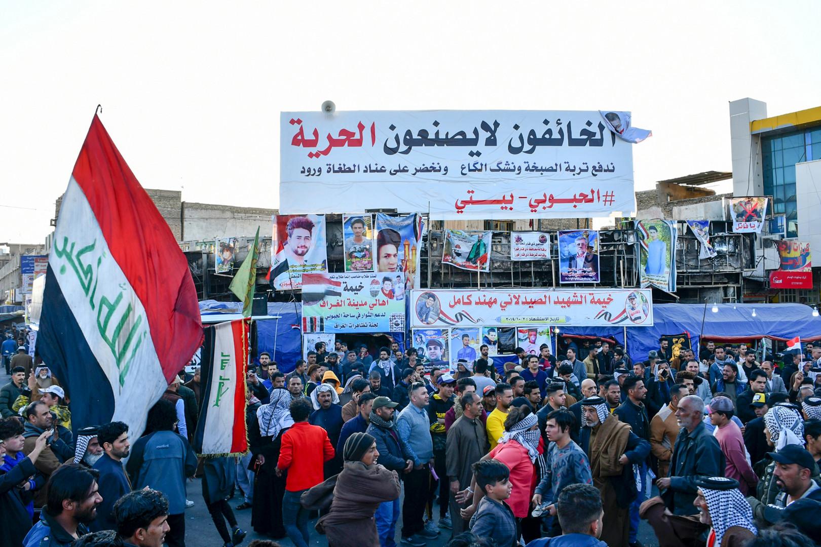 """ناشط يتحدث عن """"واقعة رفع الخيم"""" والتصدع الذي أصاب حراك تشرين في ذي قار"""