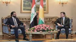 رئيس إقليم كوردستان والحلبوسي يتفقان على العمل المشترك لتجاوز الأزمات