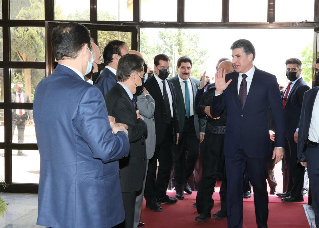 نيجيرفان بارزاني يواصل جولته للأحزاب بزيارة الديمقراطي الكوردستاني