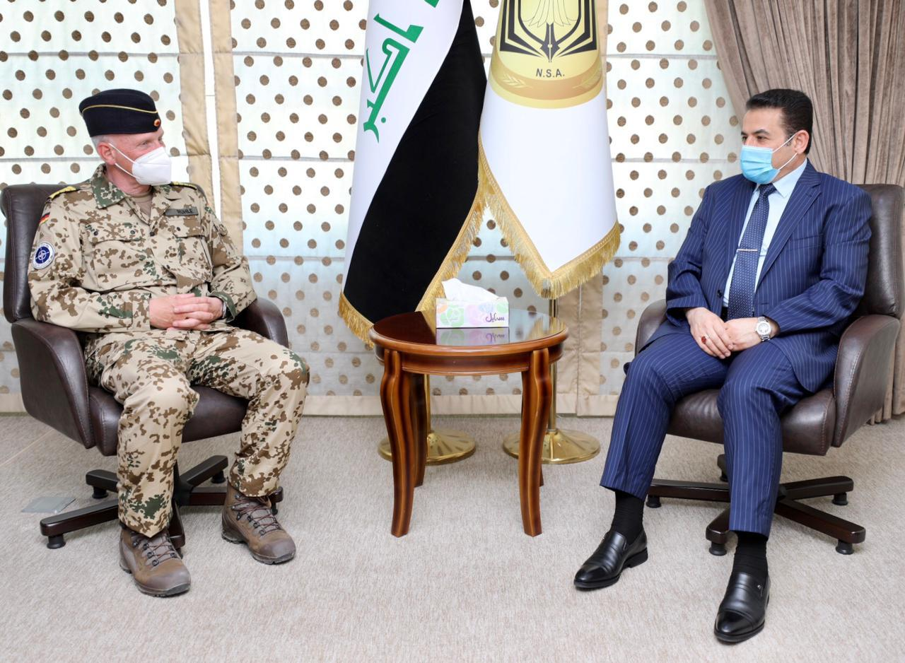 """Al-Araji to """"NATO"""": The withdrawal of foreign combat forces helps stabilize Iraq 1620217981892"""