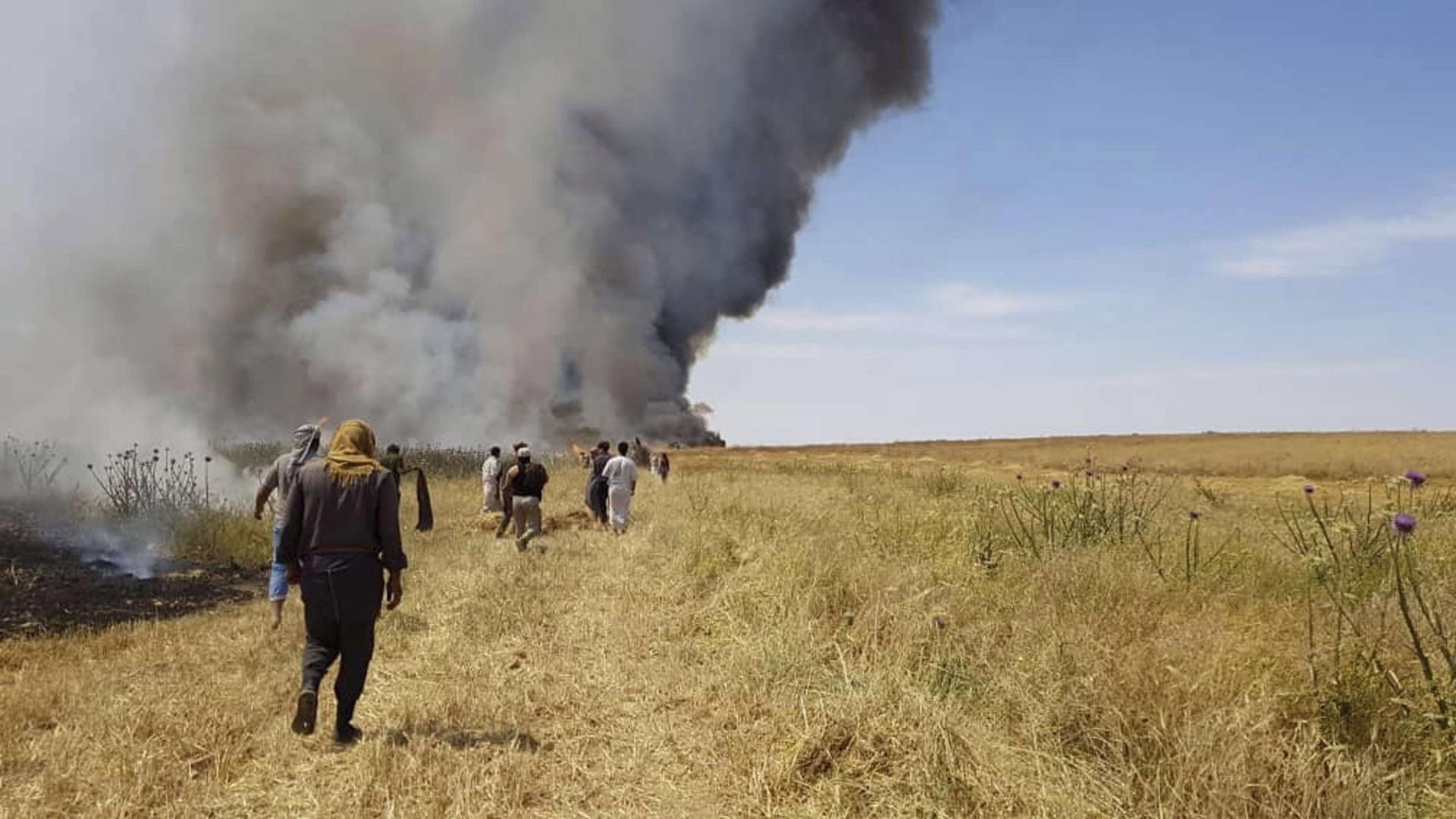 ISIS burns more than ten dunams of wheat in Diyala