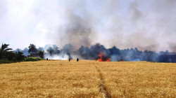 Civil Defense teams save 450 dunums of wheat from massive fires