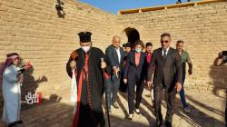 صور.. وزيرة الهجرة ووفد مسيحي يحجون إلى بيت إبراهيم في الناصرية