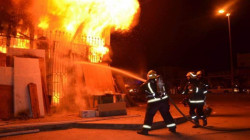 A fire broke out in a police station in Najaf