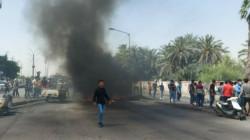 Demonstrators block major roads in Nasiriyah protesting al-Wazni's assassination