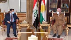 مسعود بارزاني والاعرجي يؤكدان على التنسيق والعمل المشترك بين البيشمركة والجيش