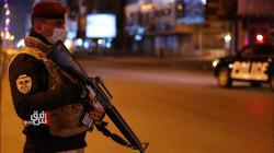 Iraqi security forces deployed as the total lockdown begins in the country