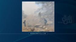 صور .. حريق هائل يلتهم 2000 دونم من الأراضي في السليمانية