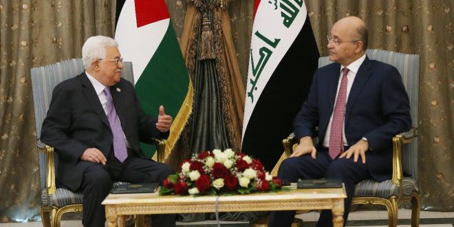 In a phone call with the Palestinian President, Iraqi president reiterates Iraq's support for the Palestine Cause