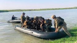 """عملية أمنية مشتركة لتفتيش """"جزر نهرية"""" جنوبي الموصل"""