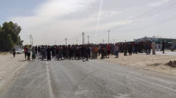 Diyala residents block a strategic road protesting power outages