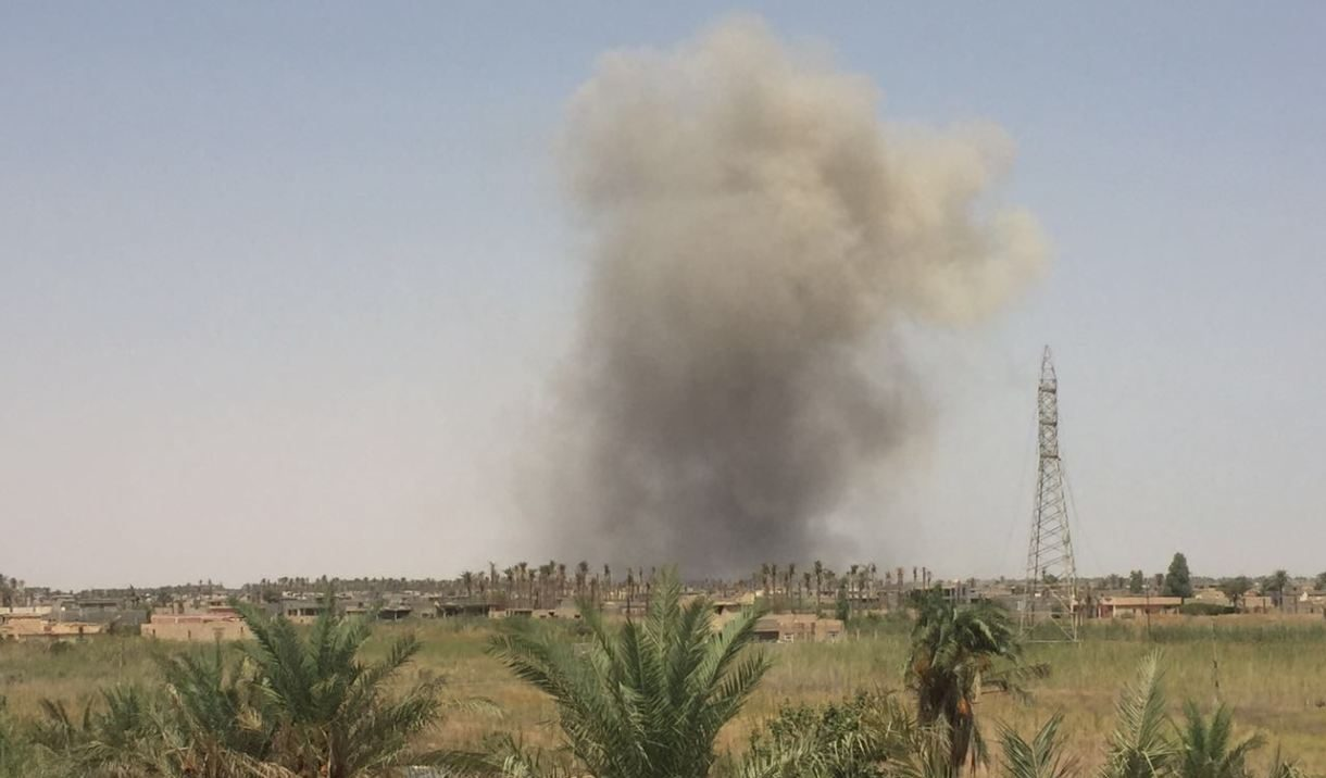 IED blast targets a convoy of the Coalition in Southern Iraq