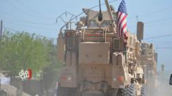 US patrol roams the northern countryside of Derik near the Turkish borders