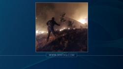 حريق واسع يأتي على 25 دونما من الأراضي في السليمانية