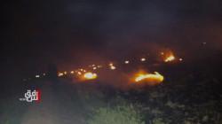 حريق يلتهم مساحة واسعة من ارض زراعية جنوبي العراق