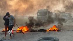 صور.. محتجون يقطعون طريقا رئيسياً بين واسط وبغداد