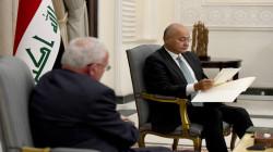 """الرئيس العراقي يناقش """"انهاء معاناة الشعب الفلسطيني"""""""