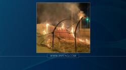 ذي قار.. إغلاق قائممقامية الفهود وإضرام النيران بخيم المعتصمين في الرفاعي (صور)
