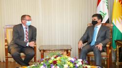 رئيس الإقليم يبحث مع السفير الالماني انتخابات العراق وتهديدات داعش