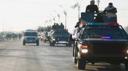 عشرات العجلات التابعة للحشد تدخل بغداد قادمة من محافظتين