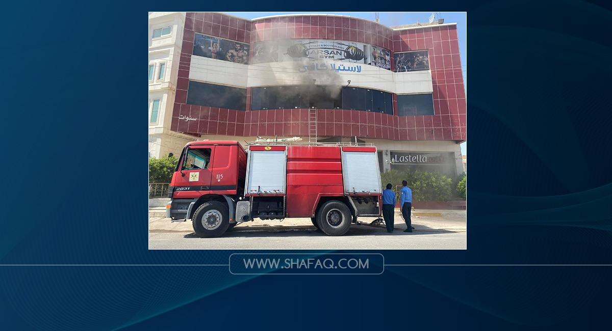 صور .. اندلاع حريق في بناية وسط أربيل