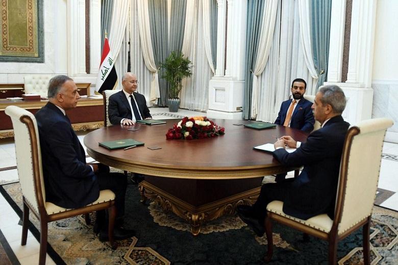 """الرئاسات الأربع في العراق تجتمع لبحث تداعيات اعتقال """"مصلح"""""""