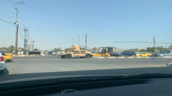 Military vehicles deployed in Southern Baghdad