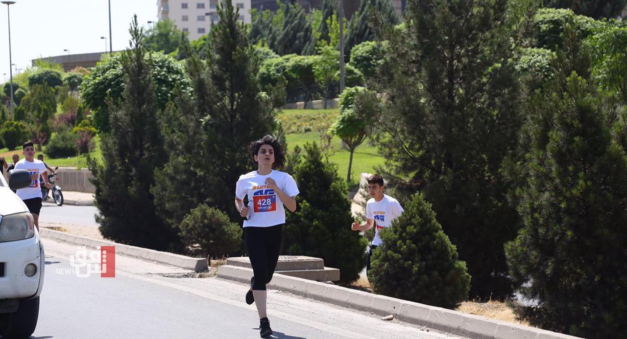 بمشاركة 800 متسابقة ومتسابق.. السليمانية تحتضن فعاليات المارثون الدولي الثاني (صور)